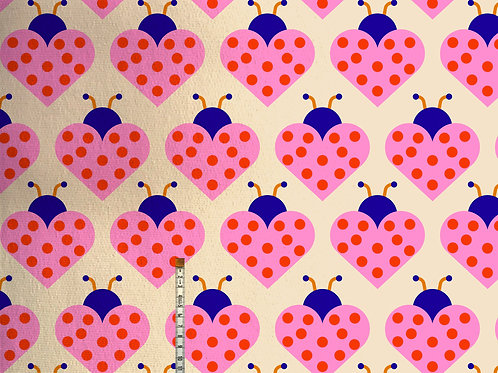 SALE! Meterware Baumwolljersey LADYBIRD PINK von Bonnie and Buttermi