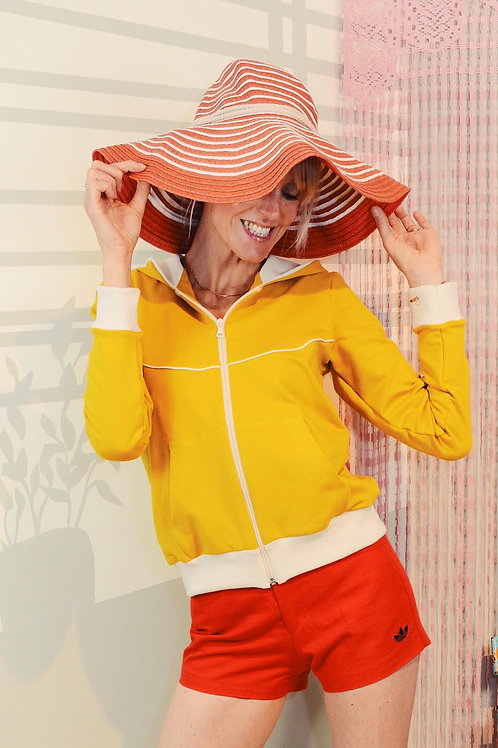 Sporty-Kapuzenjacke YELLOW LOVE creme gelb Jacke