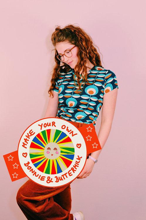 "DIY- Set, Nähset Make your own Kurzarm T-Shirt ""REIKJA BLAU"" Bonnie &Buttermilk"