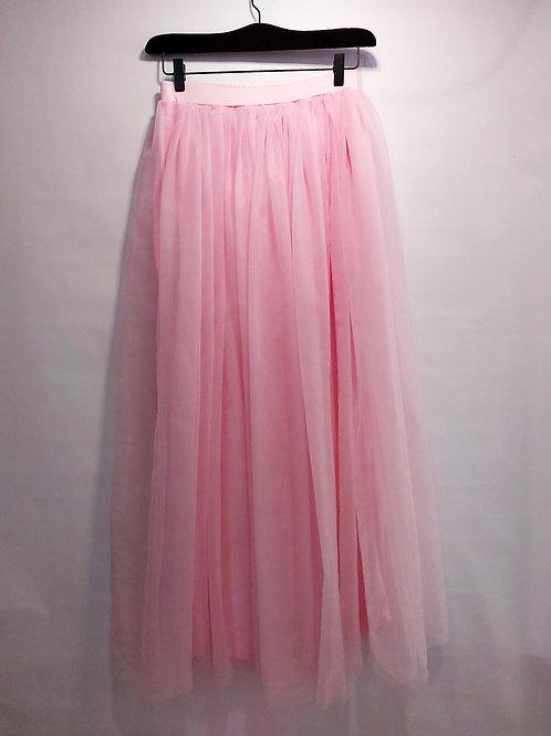 Maxi falda rosa pastel