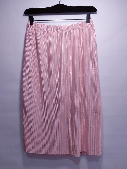Falda midi plizada