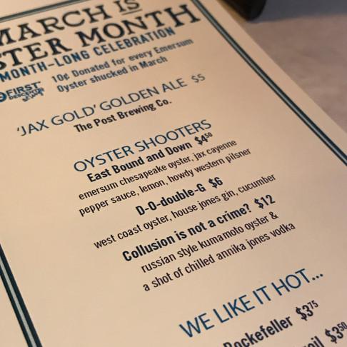 Oyster Month in Denver