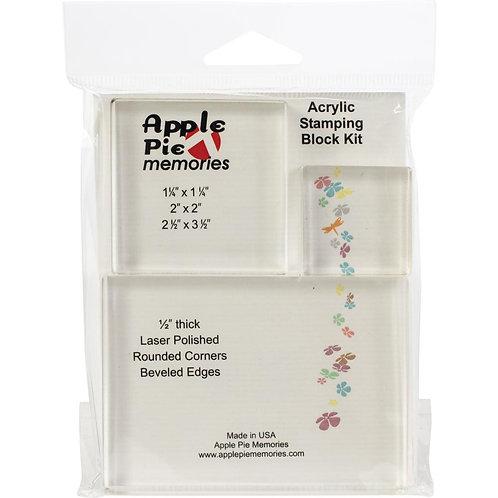 Blocs acryliques pour tampons