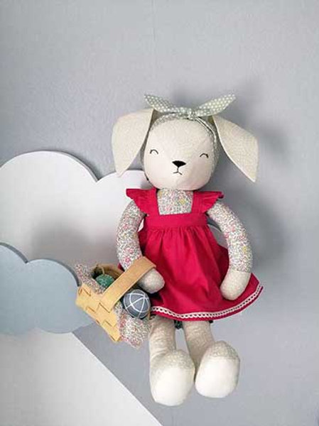 Tutoriel PDF Séraphine la lapine à coudre soi-même