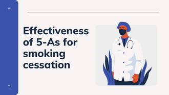 Effectiveness of 5-As for smoking cessation