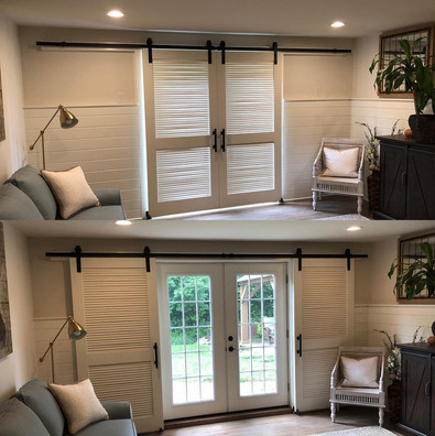 Home Remodel Living Room (Barn Door)