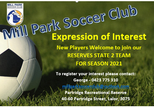 Reserve Players To Join Our State 2 Team