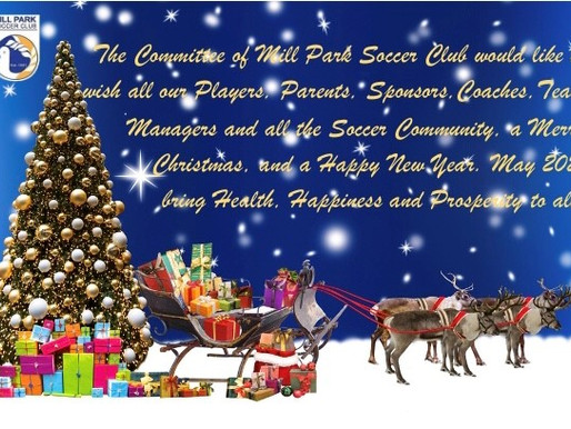 Merry Christmas & Happy New Year from Mill Park Soccer Club.