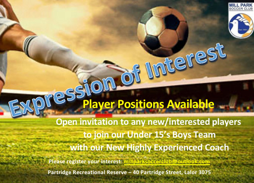 Under 15 Boys Seeking Players To Join The Team