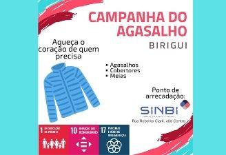 Sinbi apoia Campanha do Agasalho 2020