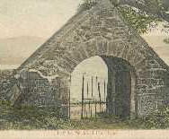 175 - Postcard - Lych Gate, Blackford Churchyard