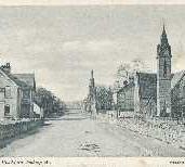 165 - Postcard - Moray Street, Blackford looking West