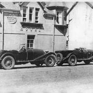 004 - 2 red label Bentleys c1940s