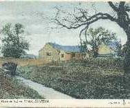 168 - Postcard - Allan Burn & School House, Blackford