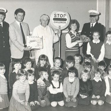 185 - Policemen and Lollipop Lady with C