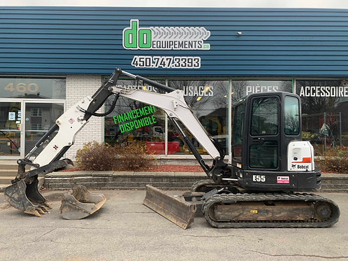 Bobcat E55 boom extensible + Lame hydraulique