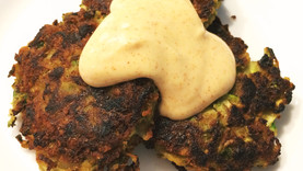 Zucchini Fritters with Spicy Lemon Aioli