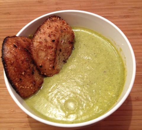 """Cream"" of Broccoli Soup"
