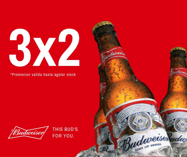 Promocion Chacal Sport Budweiser 3x2