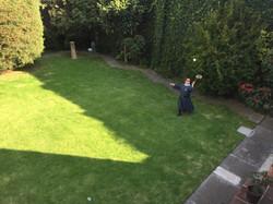 Jugando badminton