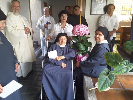 50 años de Votos Monásticos de Sor Raquel