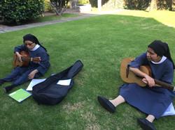 En clase de guitarra