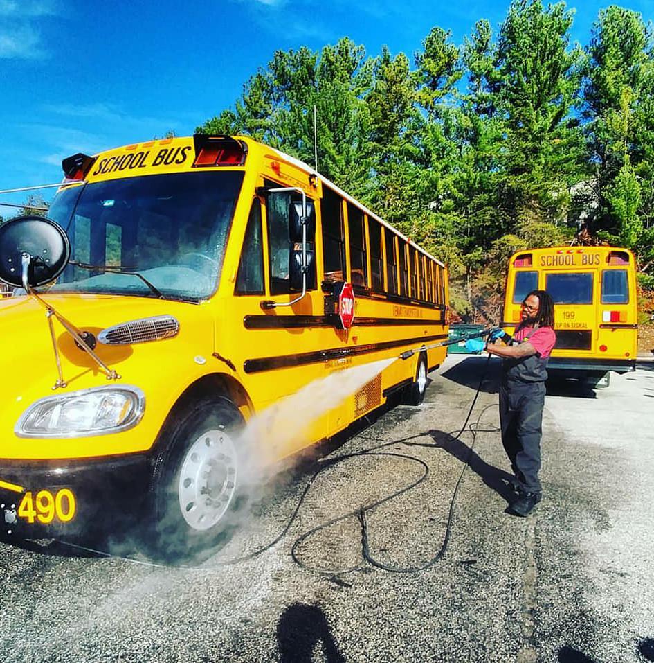 School Bus Fleet Wash