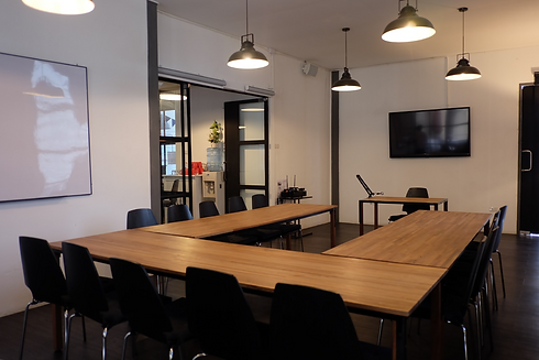 Large meeting room M606 with u table layout at The Work Loft | Coworking space - Meeting room - Private office
