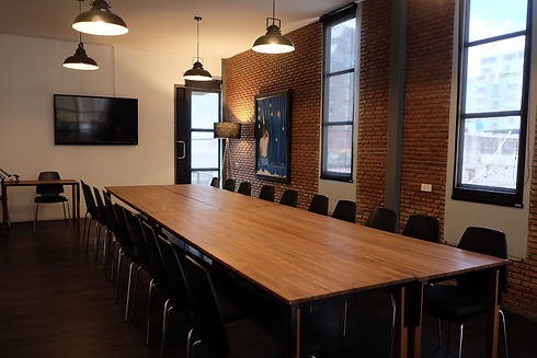 Large meeting room M606 with board room layout at The Work Loft | Coworking space - Meeting room - Private office