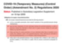 Covid-19 Temporary Measures Control Orde