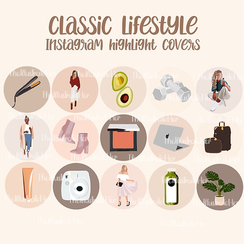 Classic Lifestyle Instagram Highlight Covers