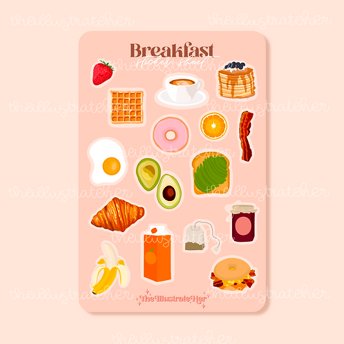 Breakfast Sticker Sheet