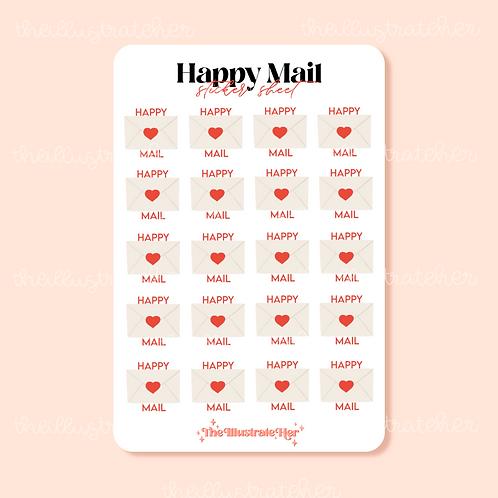Happy Mail Sticker Sheet