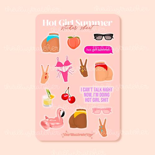 Hot Girl Summer Sticker Sheet