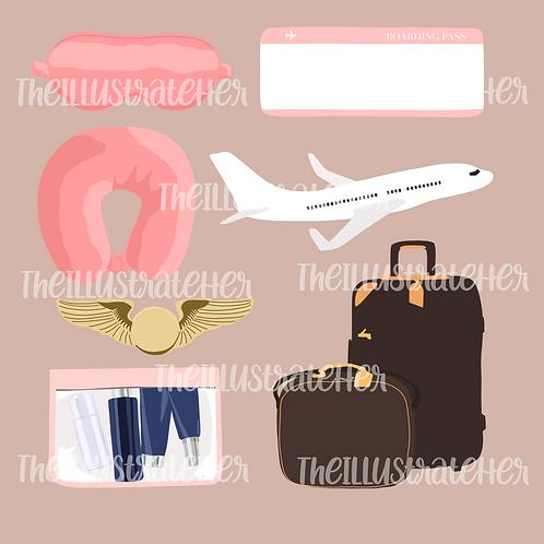 Travel Digital Stickers Pack