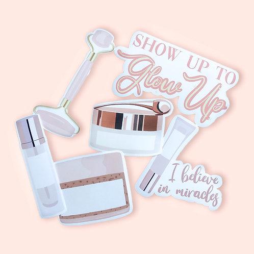 Glow Up Sticker Set