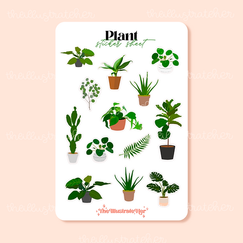 Plant Sticker Sheet