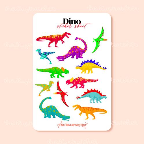 Dino Sticker Sheet