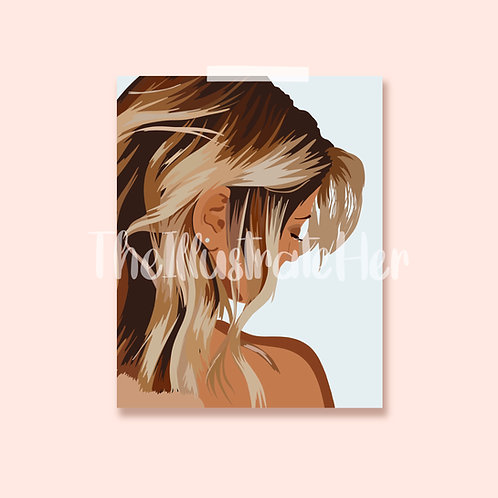Close Up Hair Print