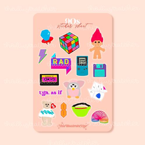 90s Sticker Sheet
