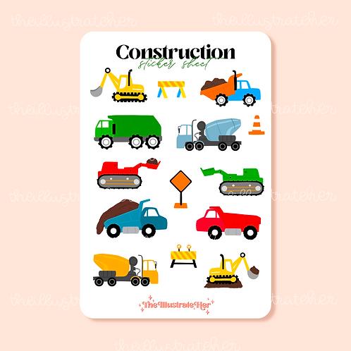 Construction Sticker Sheet