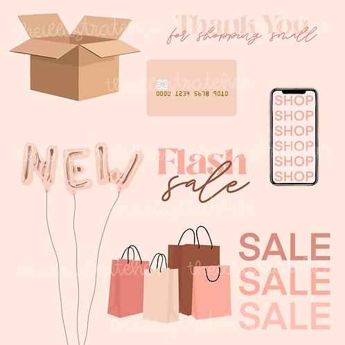 Shopping Digital Sticker Pack
