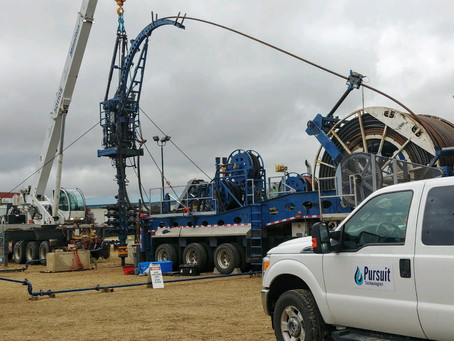 MSET testing in progress at the test well