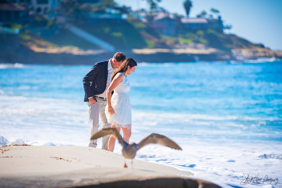 Engagement couple on the beach in San Diego