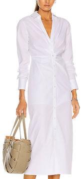 Veronica Beard Cita Midi Shirtdress white