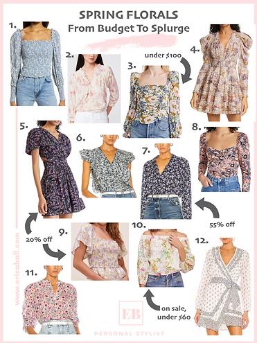 spring florals style blog picks