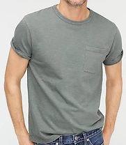 j. crew Garment-dyed slub cotton crewneck T-shirt
