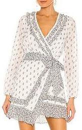 Veronica Beard Kierra Long-Sleeve Ruffle Wrap Dress