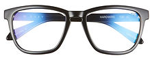 Hardwire 54mm Blue Light Filtering Glasses QUAY AUSTRALIA black