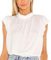 1. state ruffle sleeve blouse ecru
